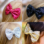 Girls Lovely Baby Girl Sparkly Sequined Fashion Handmade Toddler Bow Hair & Clip