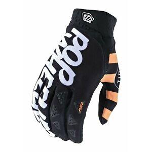 Troy Lee Designs Air Gloves TLD Mx Motocross Dirt Bike Bmx Dh POP WHEELIES BLACK