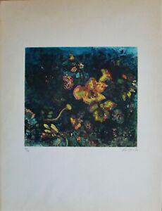 Nino Cordio  acquaforte acquatinta Fresie 64x48 firmata numerata 1972