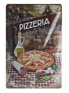 La vera Pizzeria  tin metal sign outdoor metal wall decor
