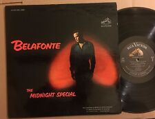 HARRY BELAFONTE ORIGINAL RCA LIVING STEREO LP THE MIDNIGHT SPECIAL VG+ BOB DYLAN