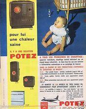 Publicité Advertising 106 1961 Potez Chauffage au mazout