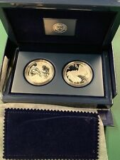 2012 AMERICAN EAGLE SAN FRANCISCO TWO-COIN SILVER PROOF SET (With COA & Box)