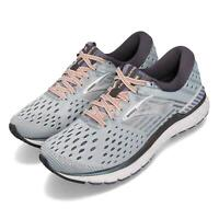 Brooks Transcend 6 Grey Pale Peach Silver Women Running Shoes Sneakers 120287 1B