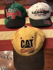 3 Nascar Hats Bobby Labonte And Cat Racing