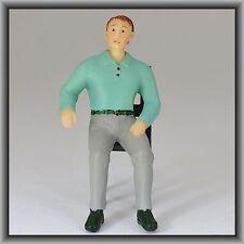 Dingler Handbemalte Figur Polyresin - Spur I - Mann sitzend, türkises Hemd