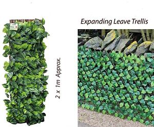 Artificial Hedge Expanding Maple Leaf Trellis Ivy Garden Privacy Screening Roll