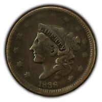 1838 1c Coronet Head Large Cent SKU-Y2628