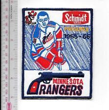 Beer Hockey Minnesota Rangers & Schmidt Beer 1965 - 66 CPHL Promo Patch St Paul