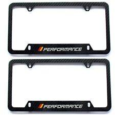 Set Of 2 German License plate frame Carbon Fiber Aluminum Screws & Caps Included