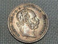 Austria Empire Hapsburg Franz Joseph 10 Silver Kreuzer 1870 Crowned Double Eagle