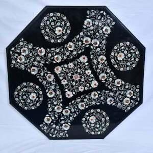 "42"" Marble Center / Coffee Table Top Inlay Pietra Dura Art Handicraft Work"