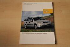 69334) Opel Astra Caravan 1.6 CNG Prospekt 08/2002