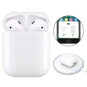 AirPods (2nd Generation) Headphones@ Earbuds + White Wireless Charging Case