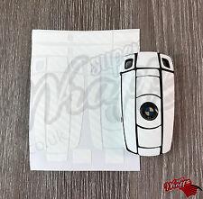 WHITE CARBON Fiber Key Fob Wrap Cover Overlay BMW 1 3 5 6 Series Z4 X1 3 X5 X6 M