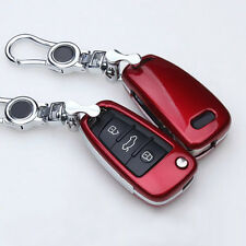 ABS Paint Red Auto Key Case Cover For Audi A1 A3 Q3 Q7 TT R8 car styling