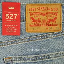 Levis 527 Jeans Mens New Slim Boot Cut Size 31 x 32 BLUE STONE Levi's NWT #249