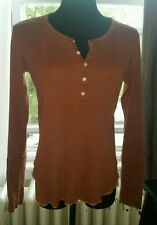 WOMEN'S EARL JEAN TOP LONG SLEEVED- 4 BUTTON COTTON SIZE LARGE