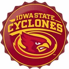 "Iowa State Cyclones College Licensed Bottle Top Metal Sign 19"" Made In Usa"