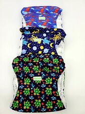 wegreeco Washable Male Dog Diapers (Pack of 3)- Washable  Belly Wrap Size Large
