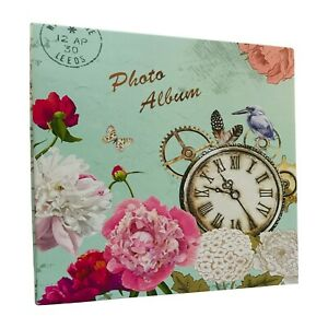 Large Self Adhesive Photo Album Hold Various Sized Picture Up to A4 VintageClock