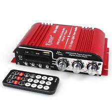 NEW MINI AMPLIFICATORE AUTO E MOTO BARCA USB SD MMC CARD 2 CANALI KINTER MA-400