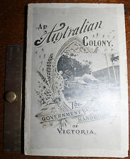 1898 An Australian Colony Government Handbook of VICTORIA Photos Illustrated