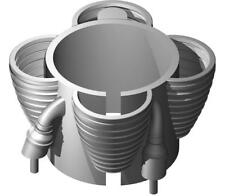 ACCUR8 1/72 Saturn IB First Stage 3D Printed H-1 Core Engines for 24mm Motors