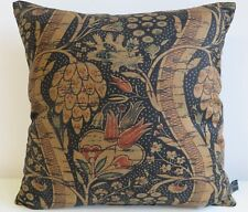 Liberty Mildenhall Black Cotton & Black Velvet Fabric Cushion Cover