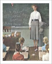 Norman Rockwell The School Teacher Prints size 11x14 inches 10023