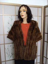PRE-OWNED SQUIRREL FUR STOLE WRAP SHAWL WOMAN WOMEN