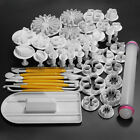 Cake Decorating Fondant Icing Plunger Cutters Mold Tools Sugarcraft 46Pcs Pack