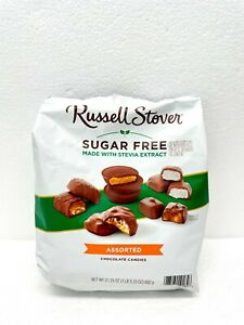Russel Stover Sugar Free Assortment Chocolate Candies W/ Stevia 21.23 Oz