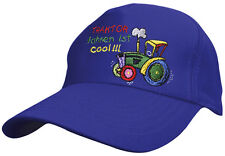 Kinder Baseballcap Cap Kappe Muetze blau m. Stick Traktor fahren ist cool 69116