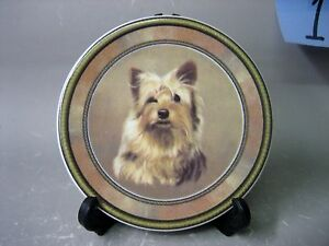 Lovely dog decorative plate, made in Australia by Linda Smith