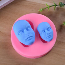 3D Baby Face Silicone Cake Mold Fondant Sugar Craft DIY Doll Head Mold Tools