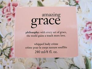 ~PHILOSOPHY~AMAZING GRACE~WHIPPED BODY CREME~8 oz - *NEW IN BOX*