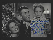 ZUZU  autographed 8x10  photo from the Movie It's a Wonderful Life Great saying
