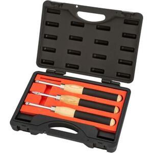 Shop Fox D4442 3-Piece Carbide Tipped Mini Turning Tool Set