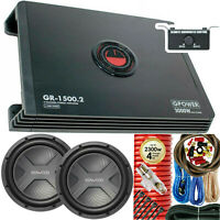 "Kenwood KFC-W3041 4000W 12"" Subwoofer + Amplifier 3000W 2-Ch + 4 Gauge Amp Kit"