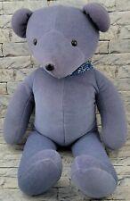 NORTH AMERICAN Teddy BEAR Stuffed Animal Vintage 1979 Blue PLUSH TOY w/ Bandana
