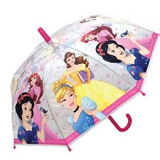 DISNEY PRINCESS DOME CLEAR Umbrella Kids Childrens Umbrella School Official