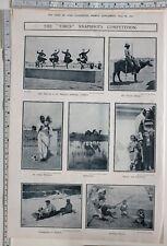 1911 INDIA PRINT INDIAN MILKMAID ~ TOBOGGANING IN KASHMIR REEL DANCING LUCKNOW