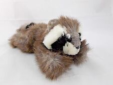 "Raccoon Plush Lying 9"" Purr-fection by MJC"