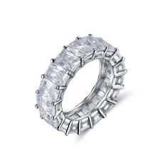 Women Luxury Eternity Rings Wedding Band 17PCS Cubic Zirconia Propose Engagement