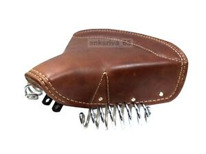 New Lycett Pure Leather Front Solo Saddle Seat For Royal Enfield Classic