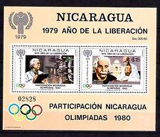 Nicaragua 1980 Gandhi Olympics Moscow Mi Bl 113 Mnh 40 Euro