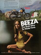 1969 BSA VICTOR 441 BEEZA VINTAGE MOTORCYCLE AD POSTER PRINT 56x42 BIG!