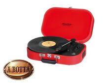 Giradischi Vintage TREVI TT 1020 BT Rosso Bluetooth - Fonovaligia 33 45 78 Giri