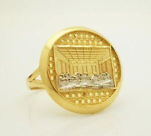 10K Yellow Gold Last Supper Ring Size 7